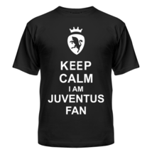 Футболка Keep calm I am juventus fan