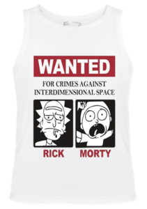 Майка Wanted Rick and Morty