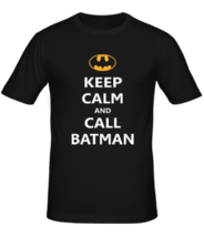 Футболка Keep-calm and call batman