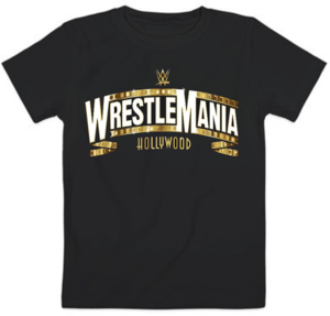 Футболка Wrestlemania gold logo
