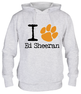 Толстовка I love Ed Sheeran лапа