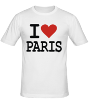 Футболка I love Paris