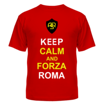 Футболка Keep calm and forza Roma