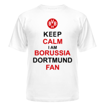 Футболка Keep calm i am Borussia Dortmund fan