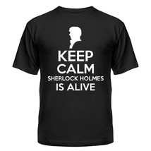 Футболка Keep calm Sherlock is alive