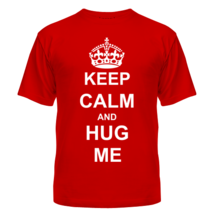 Футболка Keep calm and hug mе