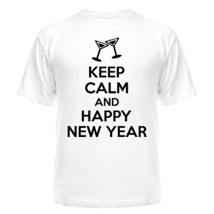 Футболка Keep calm and happy new year