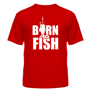 Футболка Born to fish