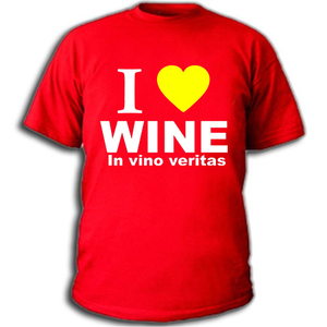 Футболка I love wine in vino veritas