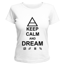 Футболка женская Keep calm and dream 30 Seconds to Mars