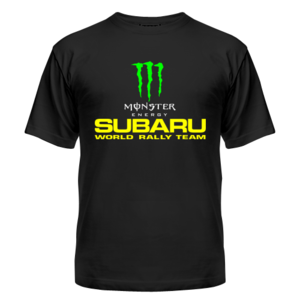 Футболка Subaru monster energy 2
