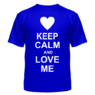 Футболка Keep calm and love me