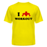 Футболка I love WorkOut