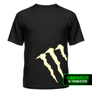 Футболка светящаяся Monster energy, side