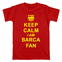 Футболка keep calm i am barcelona fan