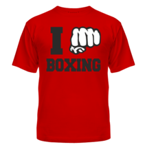 Футболка I love boxing
