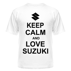 Футболка Keep calm and love suzuki