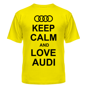Футболка Keep calm and love audi