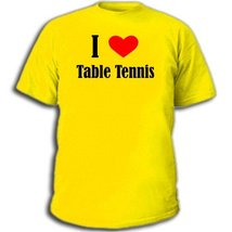 Футболка I love Table Tennis Настольный теннис