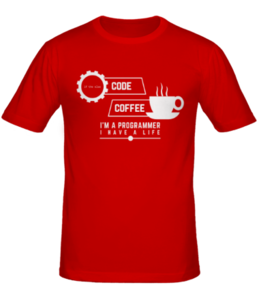 Футболка Programmer: coffee and code
