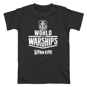 Футболка World of Warship Logo Motto