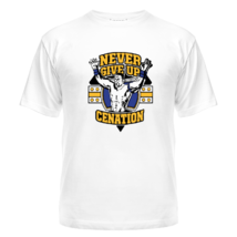 Футболка Never give up cenation