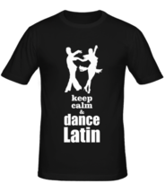 Футболка Keep calm & dance latin