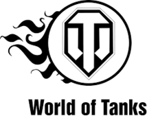 Наклейка World of Tanks лого огонь