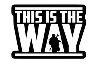 Наклейка This is the Way
