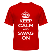 Футболка Keep calm and swag on
