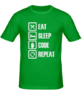 Футболка Eat, sleep, code