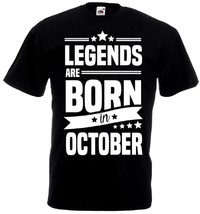 Футболка Legends are born in oktober