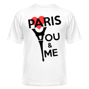 Футболка Paris. You and me. Red heart
