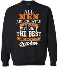 Свитшот The best are born in oktober