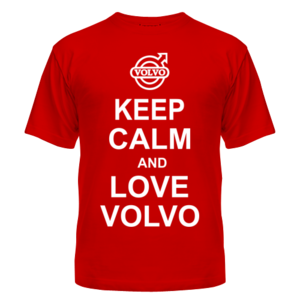 Футболка Keep calm and love volvo
