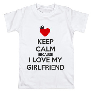 Футболка Keep calm I love my girlfriend