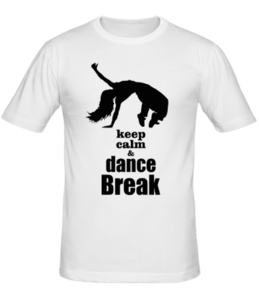 Футболка Keep calm & dance break dance