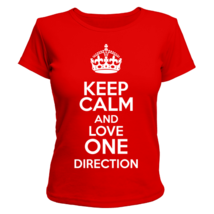 Футболка женская Keep calm and love One Direction