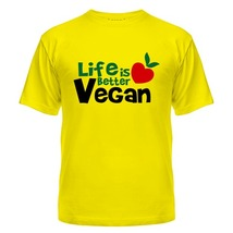 Футболка Vegan life is better