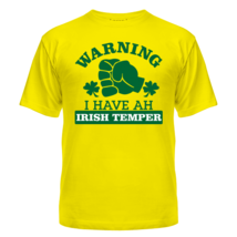Футболка Warning! Irish temper