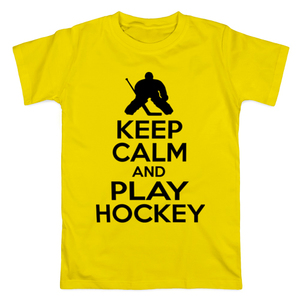 Футболка Keep calm and play hockey