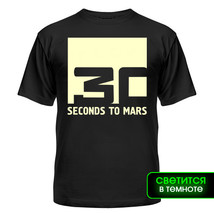Футболка светящаяся 30 seconds to mars, квадрат