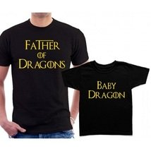 Футболки парные Father Baby of Dragons