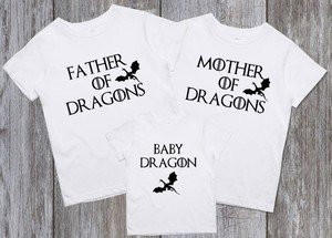 Футболки Family look Mother Father Baby of Dragons