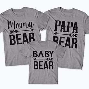 Футболки Family look Mama Papa Baby Bear